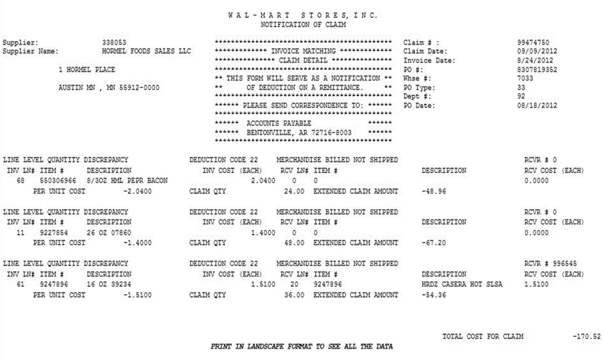 Sample Claim Document
