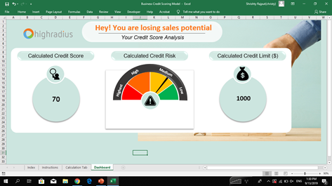 Business Credit Scoring Modal